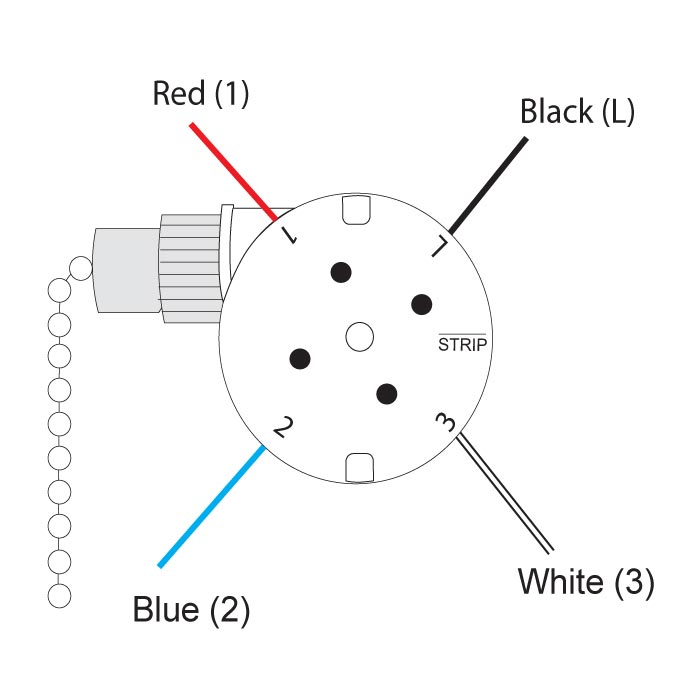 3 Speed Fan Switch 4 Wires Diagram