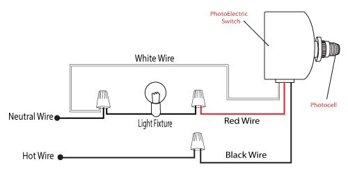 photocell wiring installation