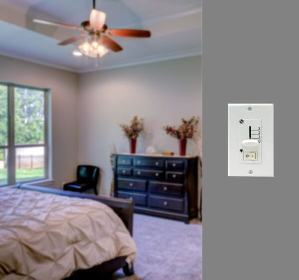 mw-201 ceiling fan wall control with on off light switch room demo