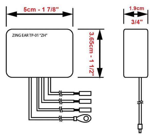 Zing Ear TP-01 Dimensions