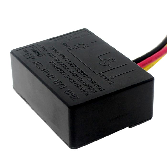 Zing Ear TP-01 ZH Touch Lamp Control Switch 150W | FCC Rated Wiring Touch Diagram Lamp Ok C A on