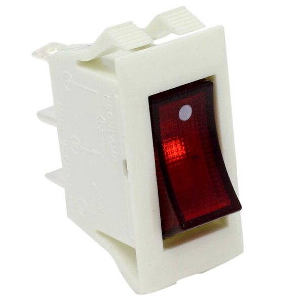 Zing Ear ZE-215 Lighted Rocker Switch White ON