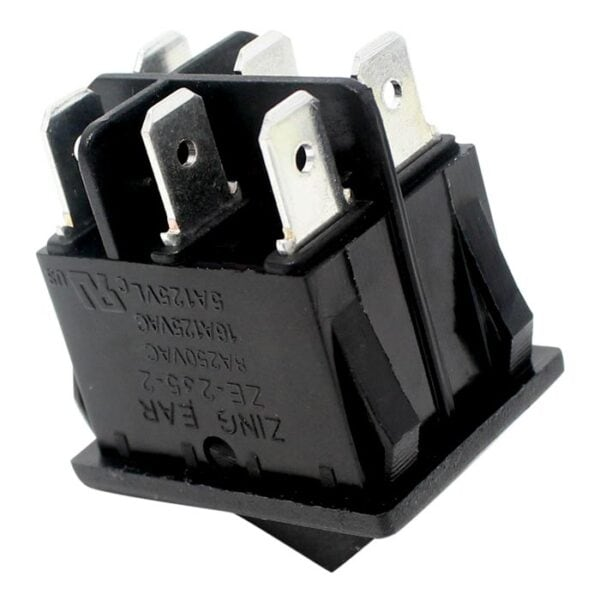 Zing Ear ZE-235-2 Rocker Switch for electric space heaters (bottom view)