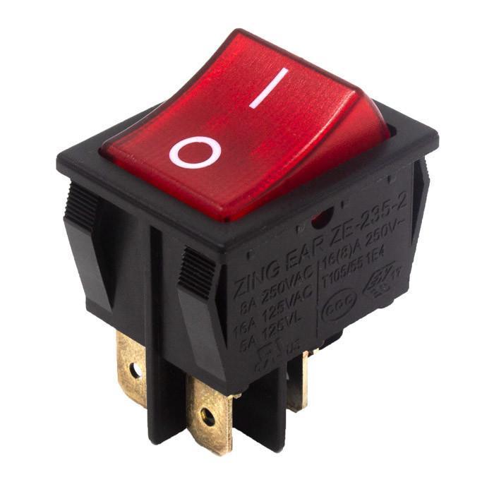 Zing Ear ZE-235-2L rocker switch 16A 120V