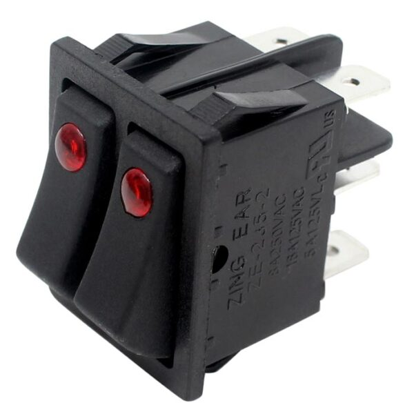 Zing Ear ZE-235-2 Rocker Switch for electric space heaters (UL recognized)