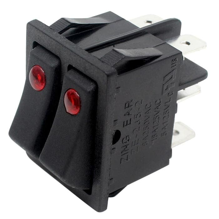 zing ear ze 235 2 illuminated rocker switch 6 pins dpst