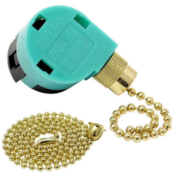 Zing Ear ZE-268s6 Fan Switch (Brass Finish)