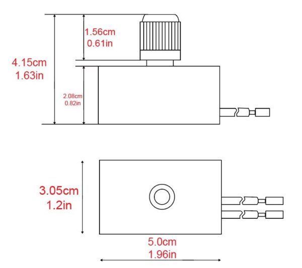 zing-ear ze 03a lamp dimmer switch dimensions
