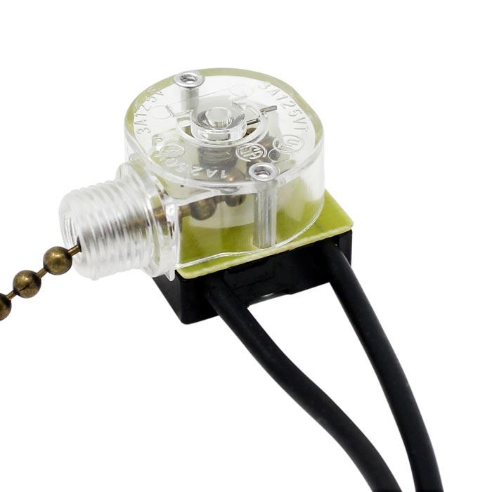 Zing Ear Ze 109 2 Wire Ceiling Fan Canopy Lamp Pull Chain