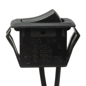 Zing Ear ZE-204 Rocker Switch (Black) - Front