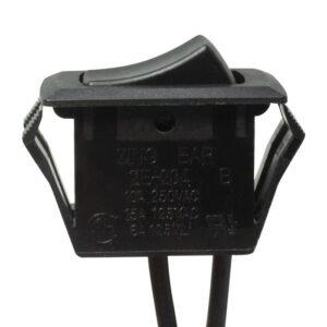 Zing Ear ZE-204 Rocker Switch (Black) - Front