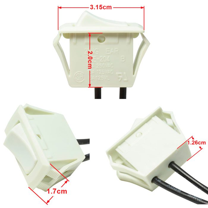 Spst Toggle Switch With Two 6 Inch Wire Leads On Off Manual Guide
