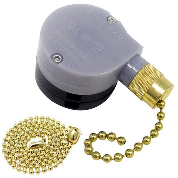Zing Ear Ze 208d 3 Speed 5 8 Wire Pull Chain Ceiling Fan Switch