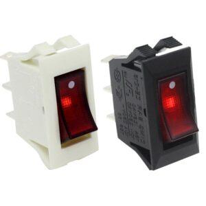 zing ear ze-215 lighted rocker switch Black / White