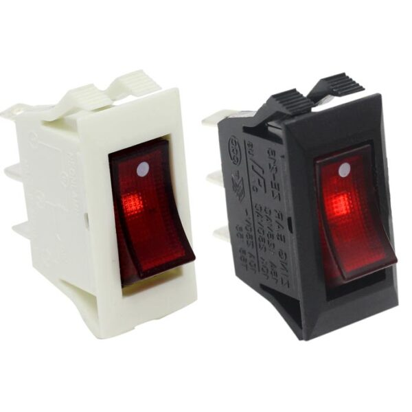 zing ear ze-215 lighted rocker switch Black / White