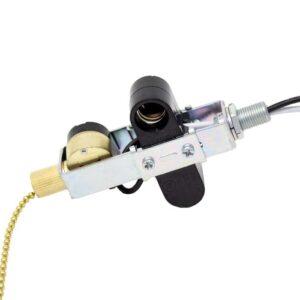 Zing Ear ZE-301D lamp holder with ze-109m light switch - Brass finish